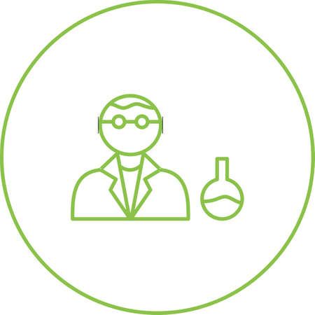 Unique Chemist Vector Line Icon