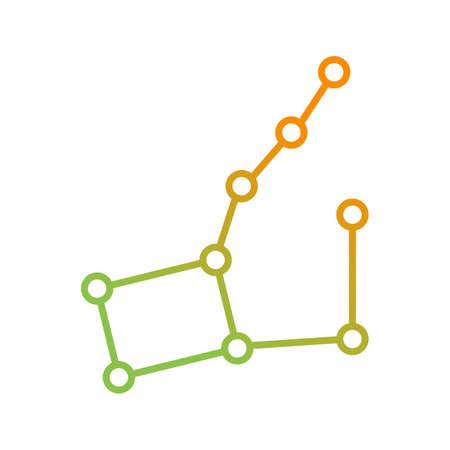 Unique Constellation Vector Line Icon Illustration