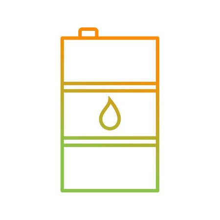 Unique Oil Barrel Vector Line Icon Illustration
