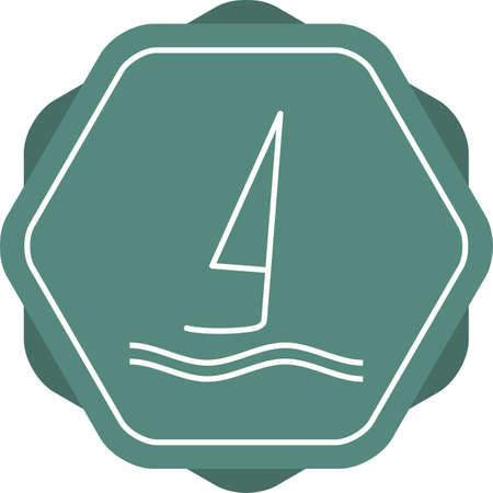 Unique Surfing Vector Line Icon Ilustrace