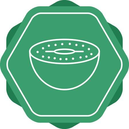 Unique Kiwi Vector Line Icon