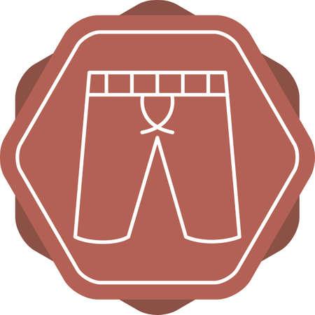 Unique Shorts Vector Line Icon Stock Illustratie