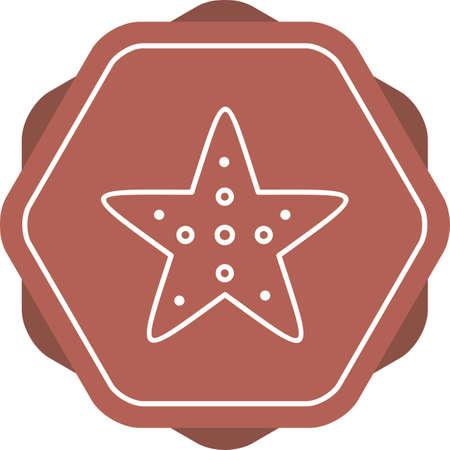 Unique Starfish Vector Line Icon