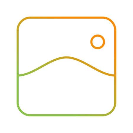 Unique Gallery Vector Line Icon Illusztráció