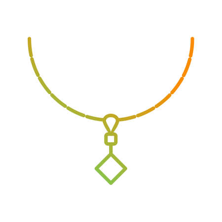 Unique Necklace Vector Line Icon Ilustrace