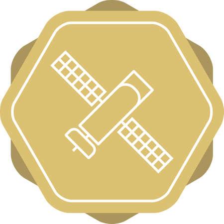 Unique Satellite I Vector Line Icon