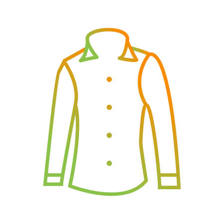 Unique Formal Shirt Vector Line Icon