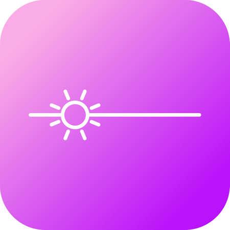 Unique Brightness Vector Line Icon
