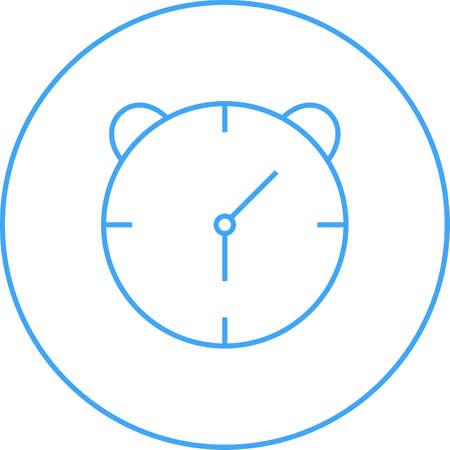 Unique Alaram Clock Vector Line Icon