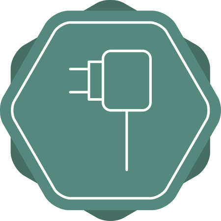 Unique Charger Vector Line Icon 向量圖像