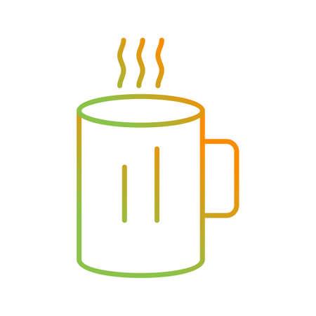 Unique Hot Coffe Vector Line Icon Illustration