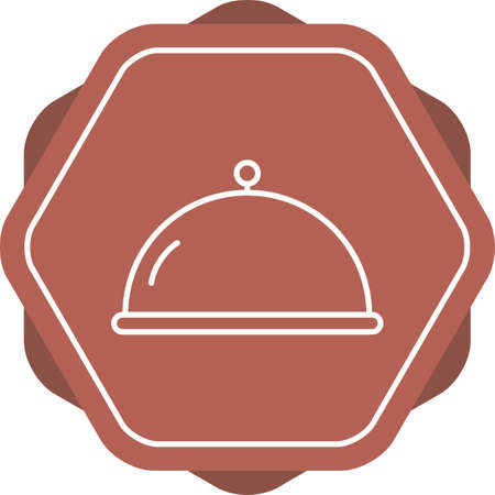 Unique Covered food Vector Line Icon