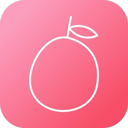 Unique Guava Vector Line Icon