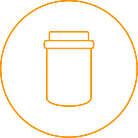 Unique Jam Bottle Vector Line Icon