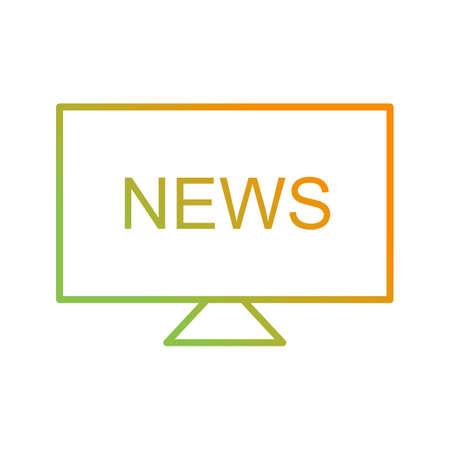 Unique National News Vector Line Icon