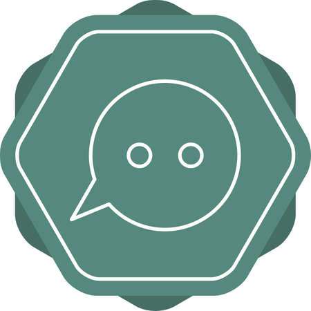 Unique Message Bubbles Vector Line Icon Illustration