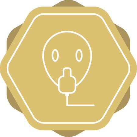 Unique Oxygen Mask Vector Line Icon Banco de Imagens - 138264726