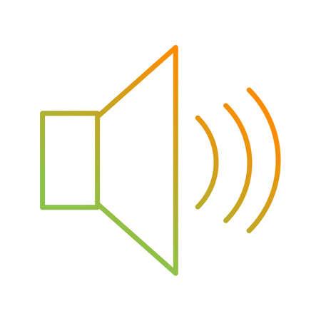 Unique Speakers Vector Line Icon Çizim