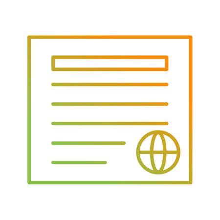 Unique Newspaper Vector Line Icon Çizim