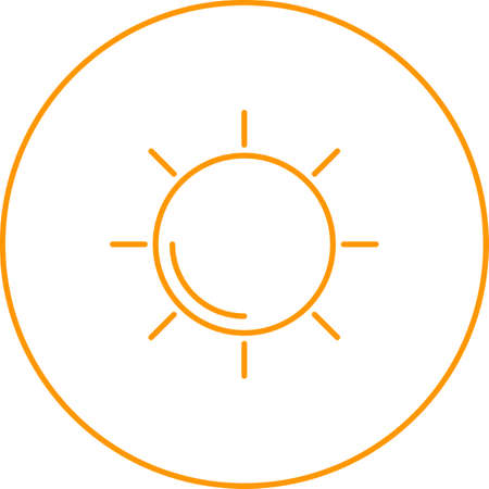 Unique Sun Vector Line Icon 向量圖像