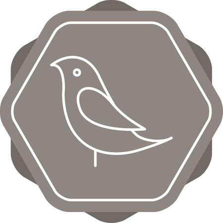 Unique Birds Vector Line Icon Ilustrace