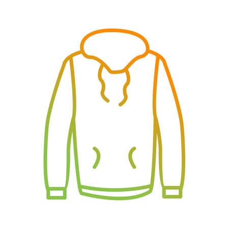 Unique Pull Over Vector Line Icon 일러스트