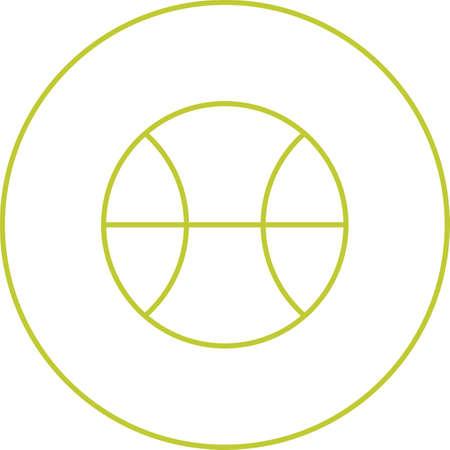 Unique Ball  Vector Line Icon Ilustracja
