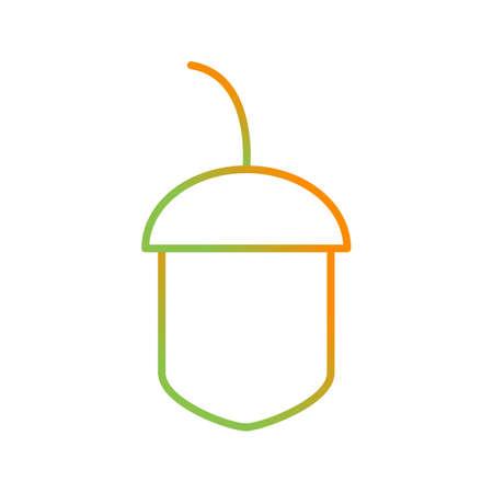 Unique Chestnut Vector Line Icon