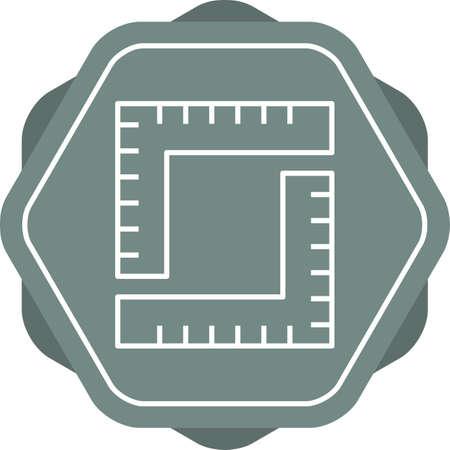 Unique Measurement Vector Line Icon