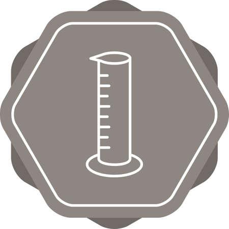 Unique Graduated Cylinder Vector Line Icon Çizim