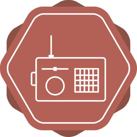 Unique Radio Vector Line Icon