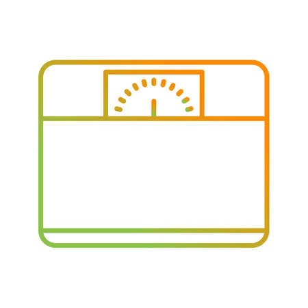 Unique Weighing Machine Vector Line Icon