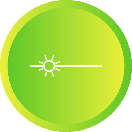Unique Brightness Vector Line Icon Vektoros illusztráció