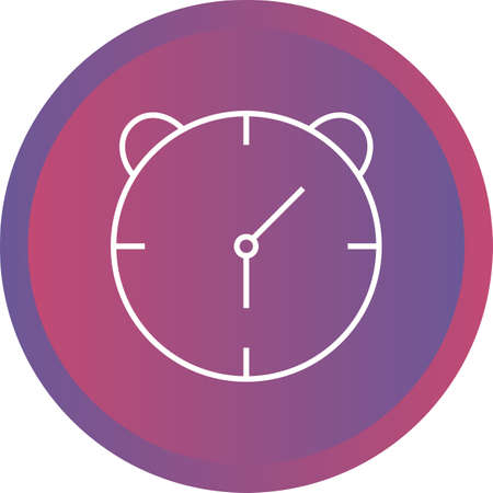 Unique Alaram Clock Vector Line Icon