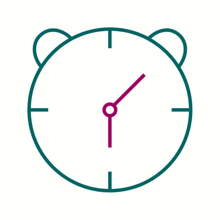 Unique Alaram Clock Vector Line Icon 写真素材 - 138017399