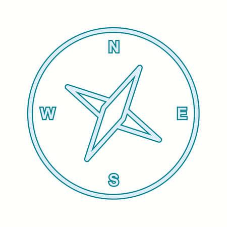 Unique Compass Vector Line Icon Ilustracja