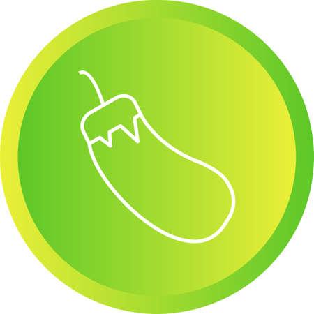 Unique Eggplant Vector Line Icon Иллюстрация
