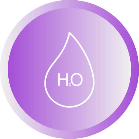 Unique H2O Vector Line Icon