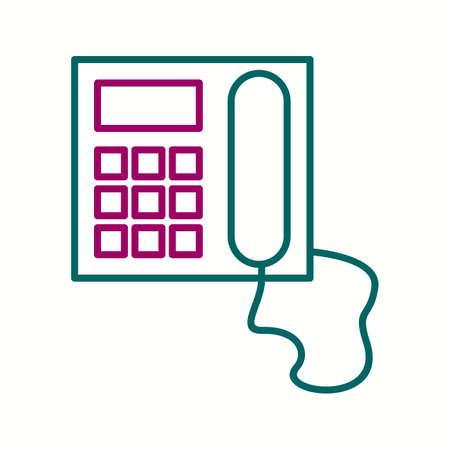 Unique Telephone Vector Line Icon 写真素材 - 138018631