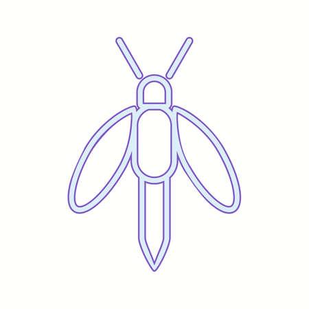 Unique Firefly Line Vector Icon