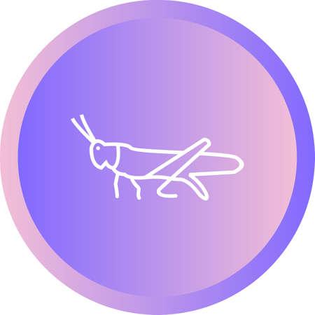 Unique grasshopper Line Vector Icon