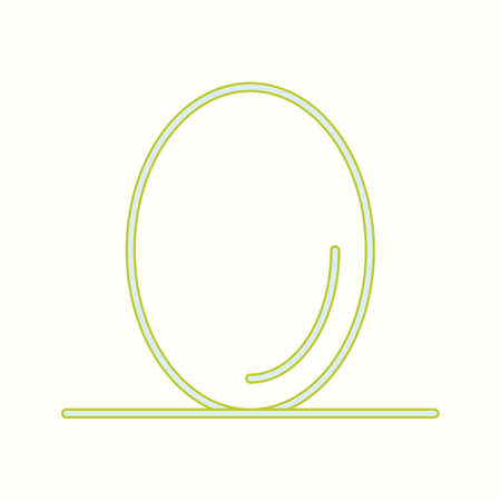 Unique Egg Vector Line Icon