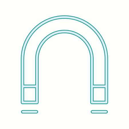 Unique Magnetism Vector Line Icon