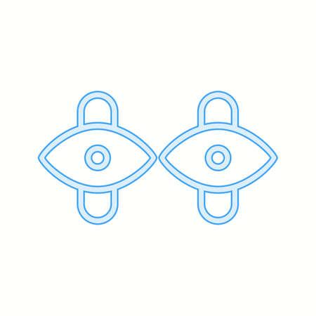 Unique Cuff Links Vector Line Icon