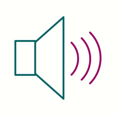 Unique Speakers Vector Line Icon 向量圖像