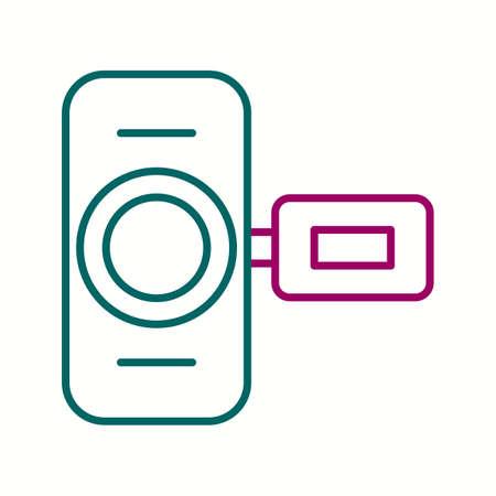 Unique Hand Camera I  Vector Line Icon