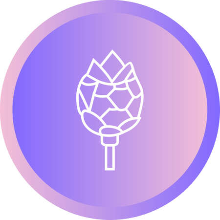 Unique Artichoke Vector Line Icon Illustration
