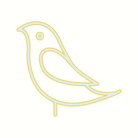 Unique Birds Vector Line Icon 일러스트