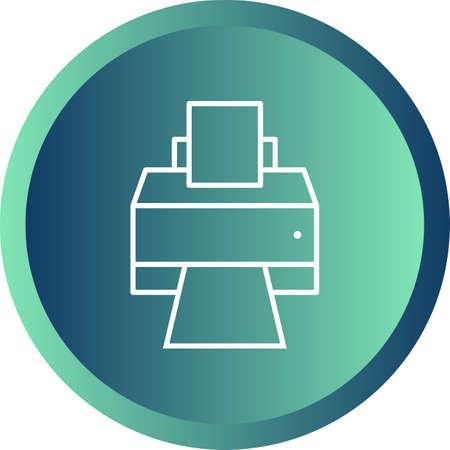 Unique Printer Vector Line Icon 向量圖像