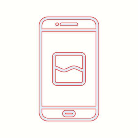 Unique Photos App Vector Line Icon Фото со стока - 138027758